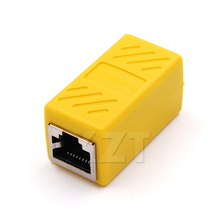 AT 20PCS Coupler Extender RJ45 Ethernet Cable Join Extension Converter Coupler Female to Female Network LAN Connector Adapter(China)