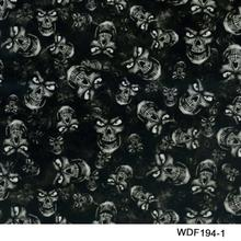WDF194-1 Decorative Material 10 square Width 1m hydrgraphic film skull water transfer film(China)