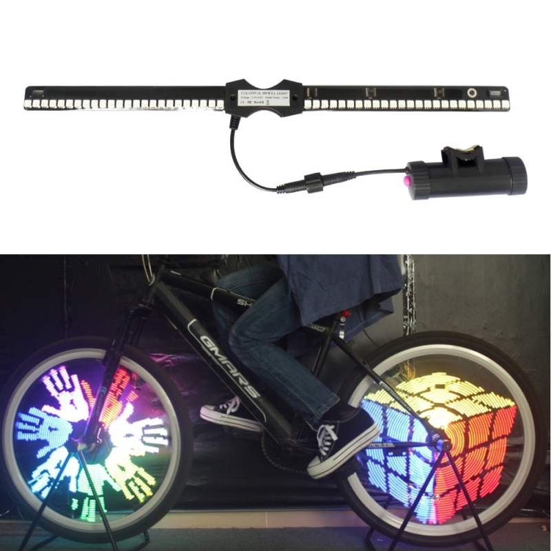 Free Shipping YQ8005 96 LED Waterproof Color Changing Bike Wheel Spoke Light Night Riding H1E1<br><br>Aliexpress
