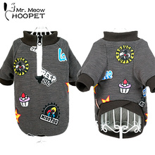 New Pet Coat Dog Jacket Graffiti printing Warm Winter Clothes Puppy Cat Sweater Coat Clothing Apparel(China)