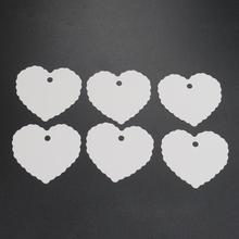 50pcs/set Hang Tag Decoration  Heart Shape Blank Kraft  Price Label  Paper Multifunctional Wedding Party Gift Cards  Bookmark