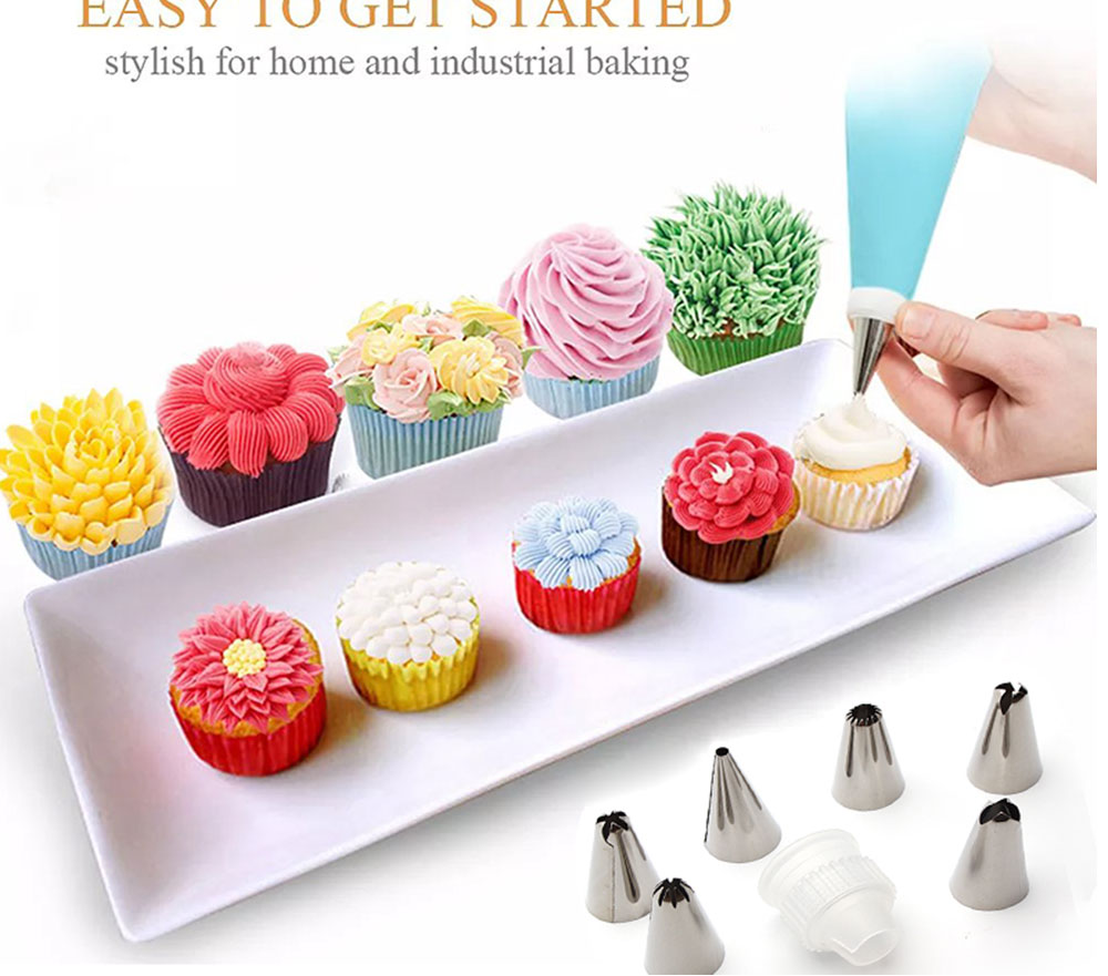 MAY FIFTEENTH Cake Decorating Tools 31pcs Pastry Bag Nozzles Piping Icing cream Piping Nozzle Pastry for Cake Cupcake Decoration (13)