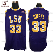 Cheap 33# Shaq O'NEAL COLE High School Basketball Jersey Shaquille Oneal Stitched Throwback Shirts 3 Color Free Shipping(China)