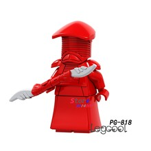 1PCS model building blocks action figures starwars superheroes Red Royal guard girls house games DC diy toys for children gift(China)