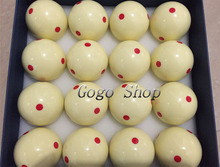 "57.2mm Red Dots Snooker Table Spot Cue Ball 2 Diameter 1/4""pcs Billiard Training ball Professional Design Pool game Accessories"