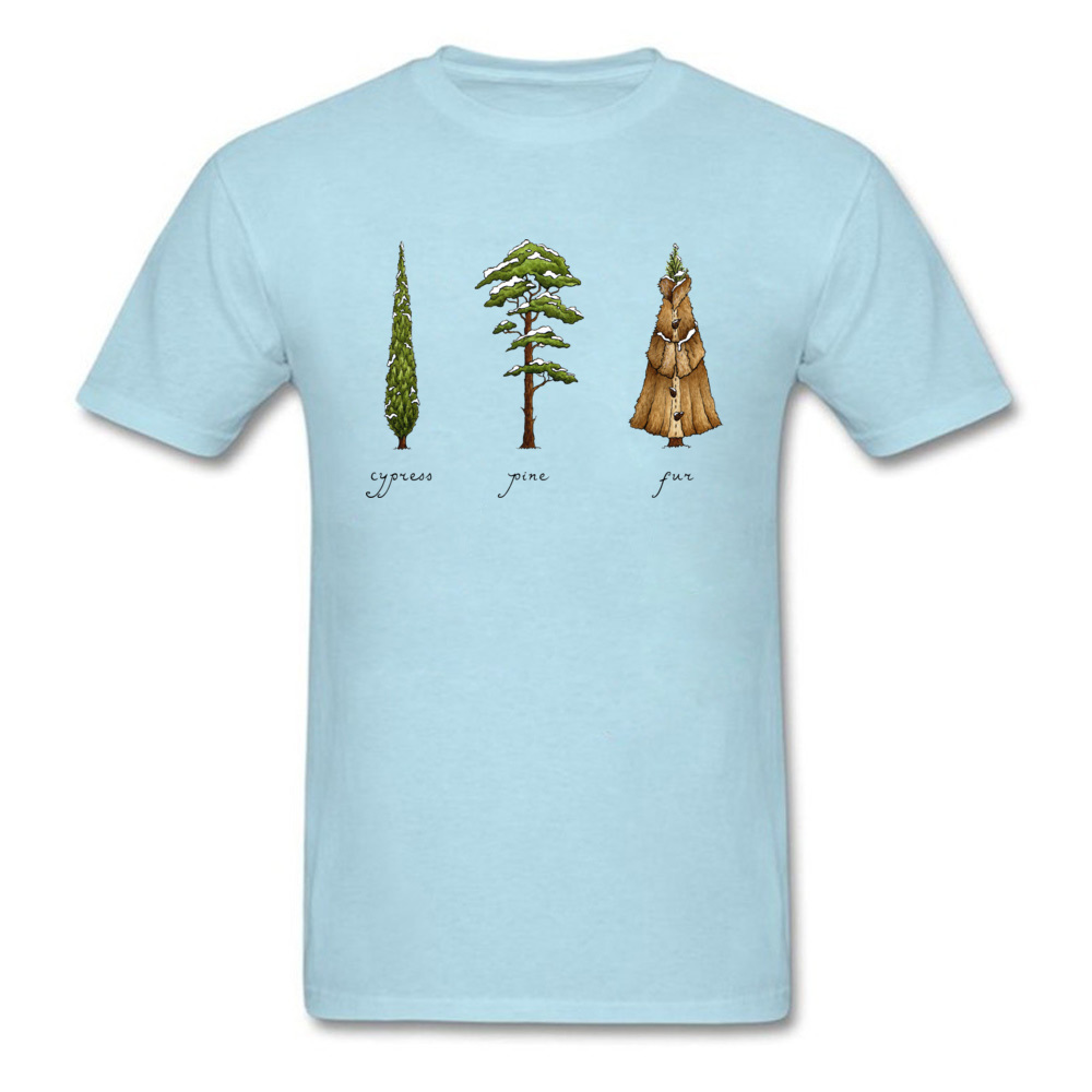 Know Your Coniferous Trees T-shirts for Men Street Fall Tops Shirt Short Sleeve Brand Printed On Tee-Shirt O Neck Pure Cotton Know Your Coniferous Trees light