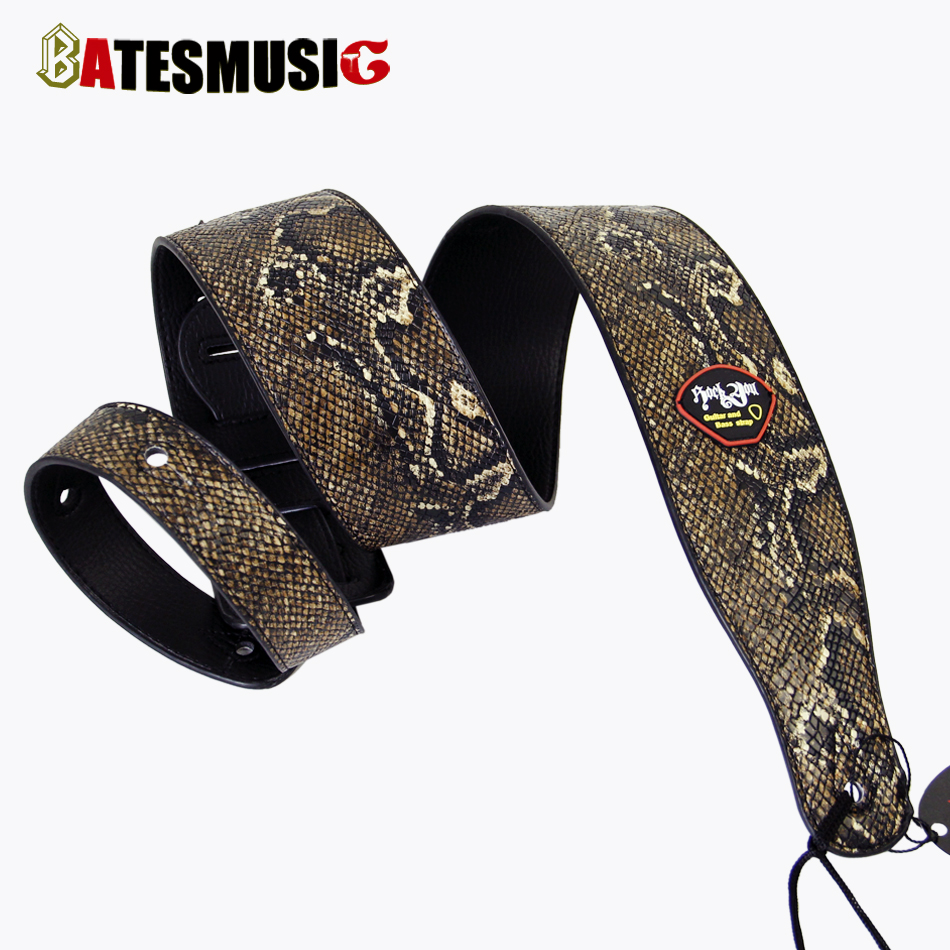 Rock You Emulational Snakeskin Bass Guitar Strap Acoustic Guitar Belt Strap Electric Bass Belt<br><br>Aliexpress