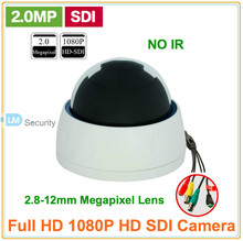 Lihmsek High Resolution 1080P HD SDI Indoor Plastic Dome Camera with 2.8-12mm Auto Iris Varifocal Lens CCTV Camera Support RS485