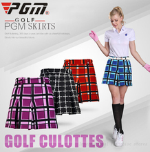 PGM New Authentic Female Anti-exposure Short Golf Skirts Women Plaid Golf Tennis Clothes Lady Girl Shorts Pantskirt Plus Size