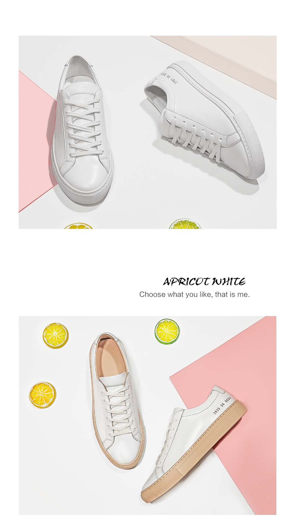 Donna-in Sneakers Women Genuine Leather Flat Low Heel Platform Ladies Lace Up Fashion Breathable Shoes Women 2018 White Nude (6)