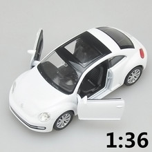 High simulation supercar,1:36 scale alloy pull back Volkswagen New beetle cars,Collection metal model toys,free shipping(China)