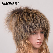 Women Fur Hat for Winter Genuine Fox Fur Skullies with Pom Poms Top Beanies 2016 New Elastic Fur Cape Brand Warm Knitted Hats