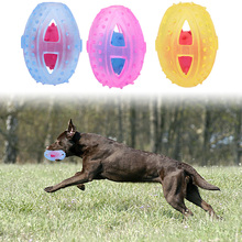 TPR Rubber Rugby Ball Toy for Puppy Dog Training Bite Resistant Chew Toys Pet Interactive Toy Dog Products(China)