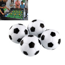 Fun Plastic 4pcs 32mm Soccer Table Foosball Football Fussball Indoor Black+White Sports Toys Entertainment Party(China)