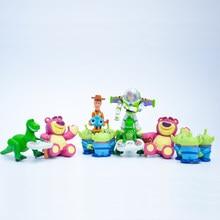 8 piezas de juguete Woody Buzz Lightyear Rex el señor cabeza de patata verde  hombres PVC figura de acción de colección modelo de. 675f13c4559