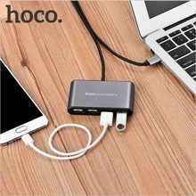 HOCO Brand Type-C to USB 4 Ports Adapter Charging Data Transfer Extension Cable for New Macbook Phones Tablets Mouse Keyboard