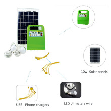 Multifunction Portable 10W Solar Panel Power Generator Lighting Bulb LED Solar Power Lamp System Kit Outdoor Camping Greenhouse(China)