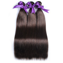 Light Brown Brazilian Straight Hair Weave Bundles 100% Human Hair Extension Color 4 Shining Star Non Remy Thick bundles 1Pc(China)