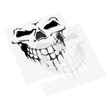 Car-covers Accessories Car Styling Funny Decoration Sticker Cartoon Vinyl Decal Skull Head Car Stickers Reflective