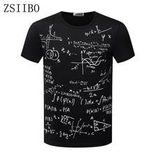 ZSIIBO TX87 factory very lost cost promotion Formula of Mathematics printing Style Men's T Shirt O Neck Short Sleeve(China)