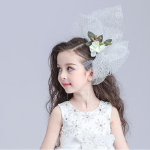 New arrival flower girl princess children hair comb hairwear hair accessories with short veil free shipping(China)