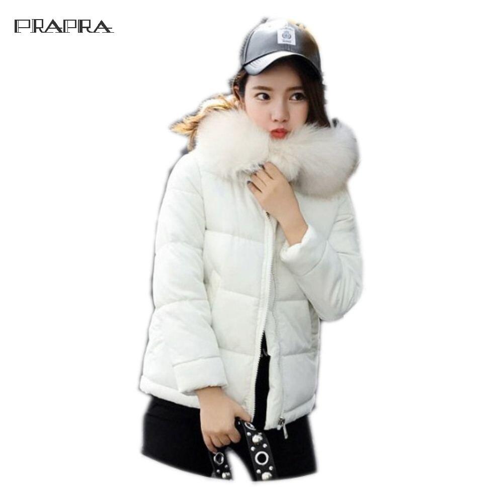 Prapra 2017 Women Coats Warm Faux Fur Coat Female Winter Clothing Hooded Slim Short Jackets Outerwear Korean Down Cotton Jacket Îäåæäà è àêñåññóàðû<br><br>