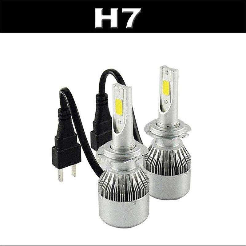 LED H7 9005 Bulb Chips Cob Automobiles Headlight Conversion Kit DC 12V-24V 2X36W 7600lm Hi/Lo H4 p43t Xenon White Light Source<br><br>Aliexpress
