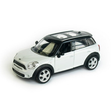 RMZ City Mini Cooper Countryman  Scale 5 Inch Diecast Model Car Toys Best Gift for Children White Red