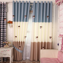 child curtains for bedroom Meet top grade Cartoon Curtain shading cloth boys and girls wedding bedroom Product customization