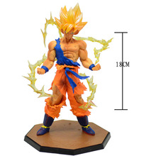 Action figure TV Peripherals Dragon Ball Monkey King Super Saiyan Goku Transfiguration Fighting Battle Hand Model Toy Doll(China)