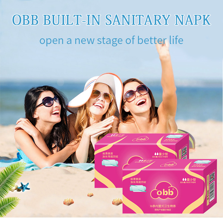 OBB Two Packs Women's Tampons Light Abosorbency 32pcs Vaginal Sanitary Napkins Pads Health Care Feminine Hygiene Products 1