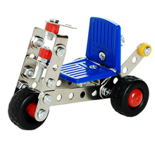 1 Set Children's Educational Metal Toys Cars Model Building Kits Block Assembled Inserted Aircraft Baby Kids Creative Game Gifts