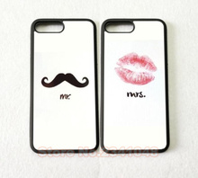 2pcs/lot His and Hers Mr. and Mrs.best friends hard skin cell phone cases for iphone 4s 5 5s 5c 6s 6 plus 7 7plus accessories