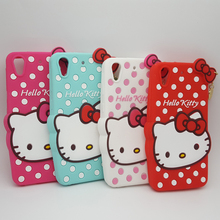 3D Lovely Cartoon Hello Kitty Polka Dot Soft Silicone Case Cover For HTC Desire 626 626G D626 Rubber Phone Cases