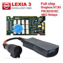 Lexia3 Full Chip Lexia 3 V48/V25 Newest Diagbox V7.83 PP2000 Lexia-3 Firmware 921815C for Peugeot for Citroen Diagnostic Tool(China)