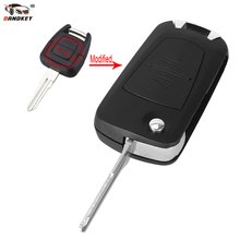 DANDKEY Flip Remote Key Fob Case Uncut HU46 Blade For Vauxhall Opel Astra Vectra Zafira 2 Button(China)