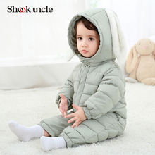 2017 New Baby Winter Romper Cotton Padded Thick Newborn Baby Girl boy Warm Jumpsuit Autumn Fashion baby's wear Kid Climb Clothes(China)