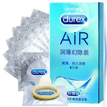 Durex Condom Adult Game 6Pcs Box Ultra Thin Extra Lubric Condoms for Men High Quality Flexibility Air Sex Product Shop Wholesale