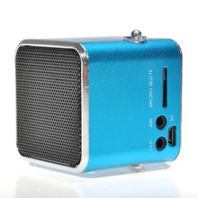 Mini td-v26 micro speaker portable liquid crystal display digital sound Micro SD/TF radio music FM stereo speaker MP3(China)