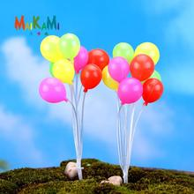 MAIKAMI Colorful Balloon Figures Lovely Decorative Mini Fairy Garden Animals Statue Jardin Miniature Moss Ornaments Resin Craft