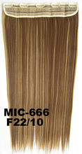 "QQXCAIW Long Straight 5 Clips 24""  Blonde Black Brown Wine Red 16 Color Synthetic Clip in Hair Extensions"