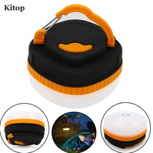 Kitop Mini Portable Camping Light powered by AA battery 3W LED outdoor Hiking hanging Tent Nightlight Emergency lamp of SOS