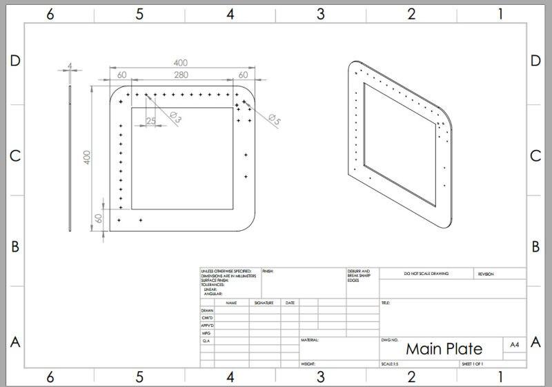 Main Plate  , material  aluminum  400#4#400       5 pcs  <br>