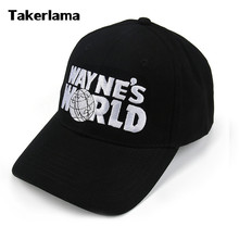 Takerlama Wayne's Świat Black Cap Kapelusz Baseball Cap Fashion Style Cosplay Haftowane Trucker Hat Unisex Mesh Cap Regulowany Rozmiar(China)