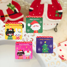 10page/lot (80pcs) Christmas stickers Santa Claus rabbit adhesive sticker Candy box gift card decoration New Year party supplies
