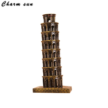 Neo 16cm Italy Pisa Leaning Tower model halloween Retro Iron Art Decoration Crafts Souvenirs christmas decorations for home(China)