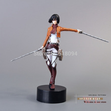 "Free Shipping Anime Attack On Titan Mikasa Ackerman PVC Action Figure Toy Doll 5""12cm ATFG056(China)"