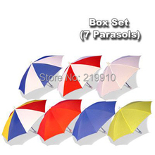 Free Shipping Parasol Box Set (7 Parasols)  --Magic Trick, Fun Magic, Party Magic.