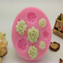 Buy 3D Silicone 8 Mine Roses Craft Fondant DIY Chocolate Mould Cake Decoration Candy Soap Mold Baking Tools H412 for $3.07 in AliExpress store