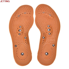 JETTING-Hot 1 Pair Magnetic Therapy Magnet Health Care Foot Massage Insoles Sale Men/ Women Shoe Comfort Pads